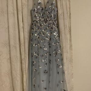 BCBGMAXAZRIA Light Blue Frost Gown